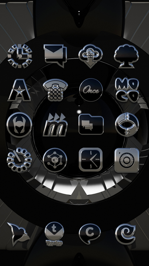Beyond black platin icon pack HD 3D- screenshot