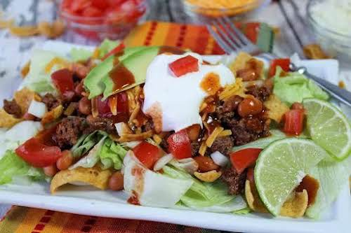 """Mom's Taco Salad """"This taco salad has simple ingredients, but when you..."""