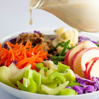 Blue Cheese, Apple and Walnut Slaw