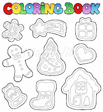Photo: 400-05880758© clairevModel Release: NoProperty Release: NoColoring book gingerbread 1 - vector illustration.