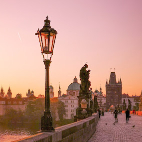 Charles Bridge  by Michal Kostka - Instagram & Mobile Android ( huawei, czech republic, charles bridge, unesco, prague )