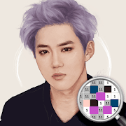 Exo Color By Number - Exo Kpop Idol Pixel Art