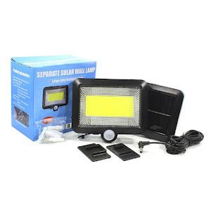 Lampa LED COB cu panou solar si senzor de miscare, SL-F100, PIR, cu acumulator