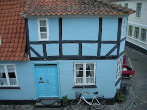 Photo: The little blue house across from the Toldbodhus B&B in Aeroskoping--8/24/08