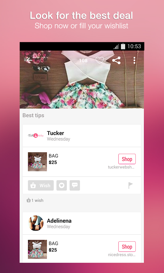 Wheretoget: Shop in style- screenshot