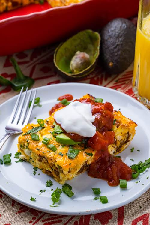 "Mexican Breakfast Egg and Chorizo Casserole""A tasty Mexican style egg breakfast casserole..."