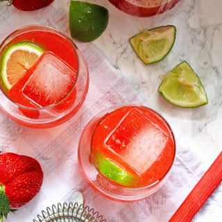 Strawberry Rhubarb Daiquiri.