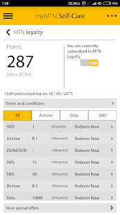 MyMTN Screenshot