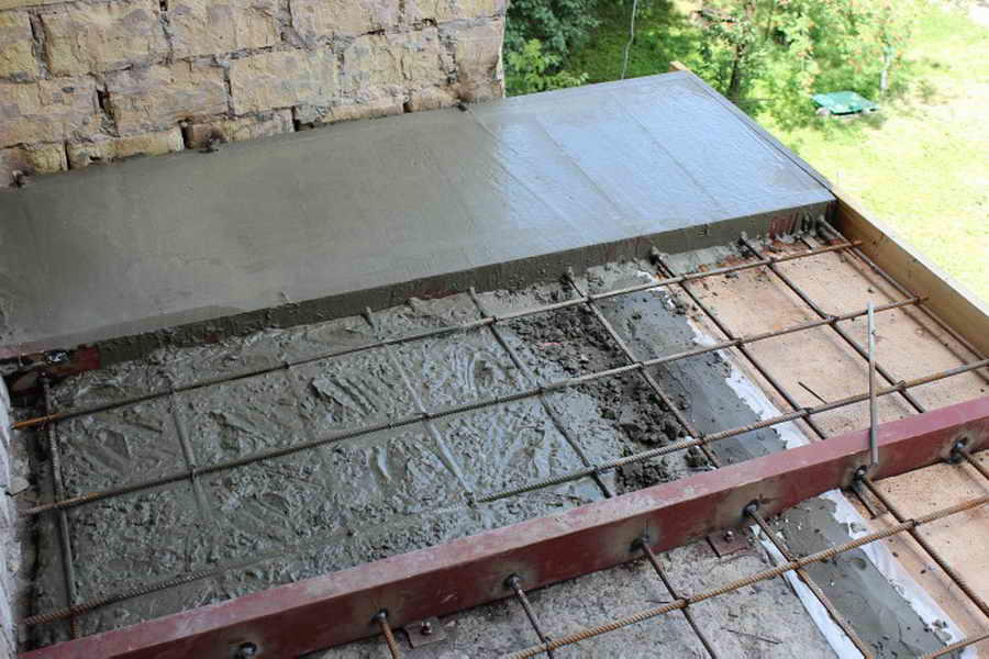 открытый балкон монтаж стяжки
