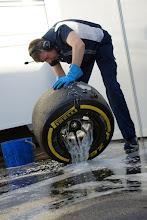 Photo: Williams Martini Racing rim washing