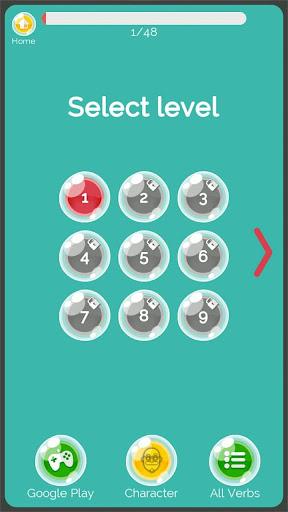 Irregular Verbs English Game 1.321 screenshots 2