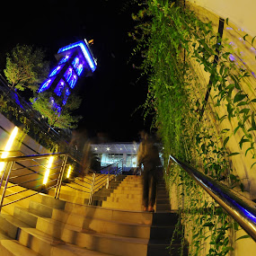 Going Up by Muhammad Fadhil - City,  Street & Park  Night ( exposure, jabal arafah batam indonesia, night, step up,  )
