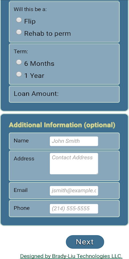 Noble Mortgage Calculator- screenshot