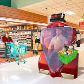 Futuristic Carter Robot Hand Cart Grocery Games
