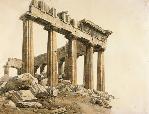 The South-east Corner of the Parthenon, Athens