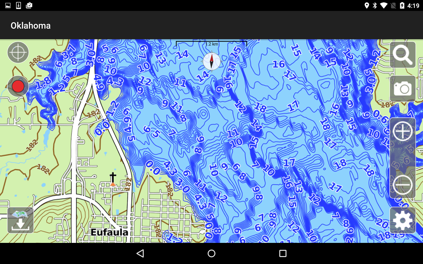 Aqua Map Oklahoma Lakes GPS- screenshot