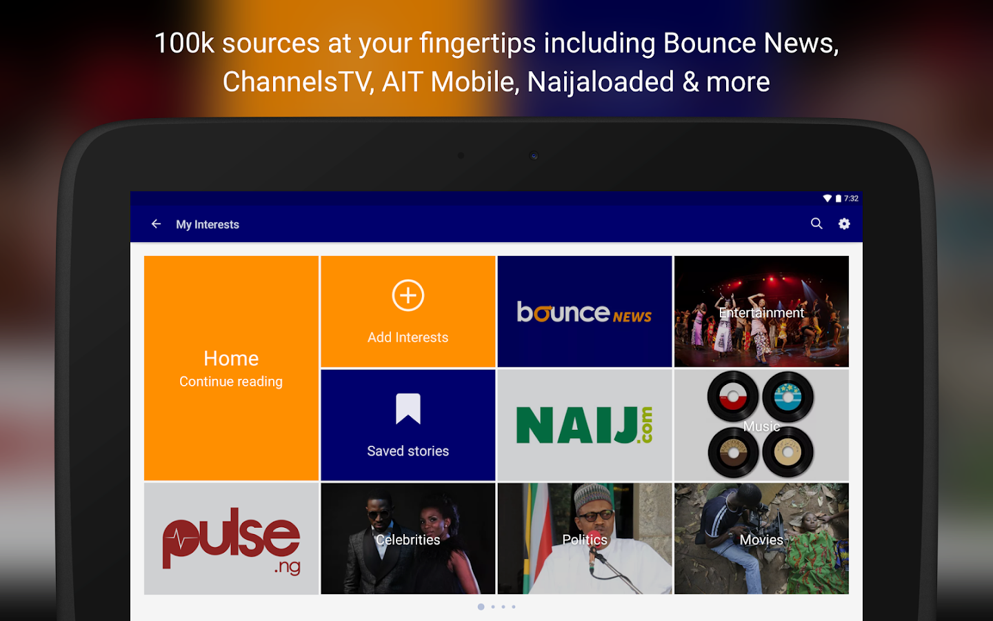 Bounce News Nigeria - SuperFast, Low Data News App- screenshot