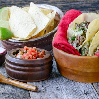 Chipotle-Inspired Flour Tacos with Barbacoa