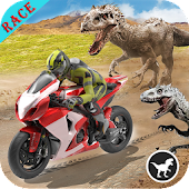 Dino World Bike Race Game - Jurassic Adventure 🏍