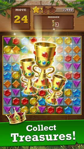 Jungle Gem Blast: Match 3 Jewel Crush Puzzles 4.2.5 screenshots 3