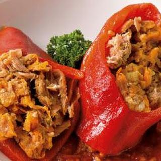Tuna Stuffed Red Bell Peppers