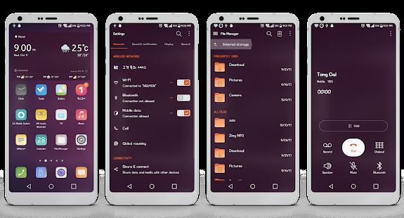 Ubuntu Theme LG V20 G5 & LG G6 - náhled