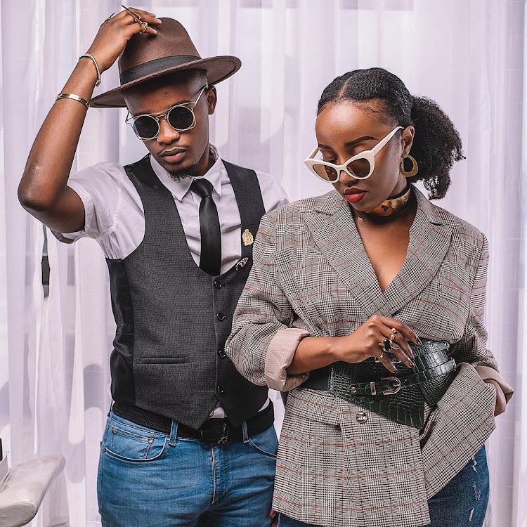 Social media influencer and content creator Wanjiru Njiru and Gospel artiste Ben Cyco.