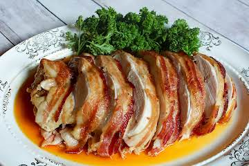 Bacon Wrapped Brown Sugar Bourbon Turkey