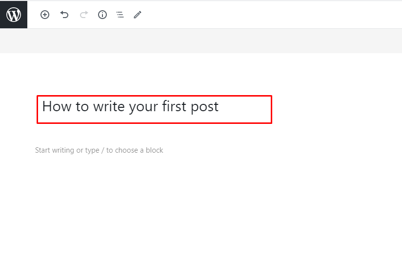 Write your first post on a blog