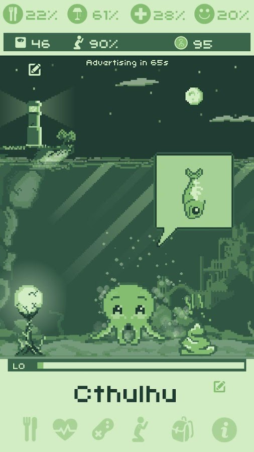 Cthulhu Virtual Pet- screenshot