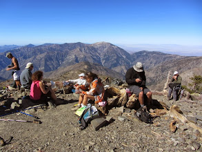 Photo: View west from Pine Mt. as a group from OC Hiking Club enjoys the summit