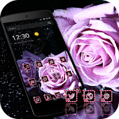 Purple Rose Romantic Theme