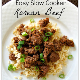 Recipe for Easy Slow Cooker Korean Beef