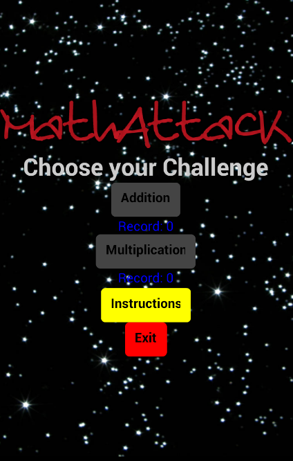 Math Attack- screenshot