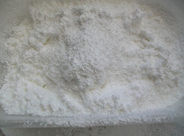 Sift the powdered sugar into a flat type bowl { do not skip this...