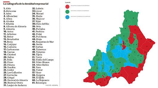 Antas, Mojácar y Viator son los pueblos más dinámicos de la provincia