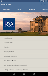 The R&A Rules of Golf- screenshot thumbnail