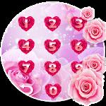 Pink Love Rose Locker Theme Icon