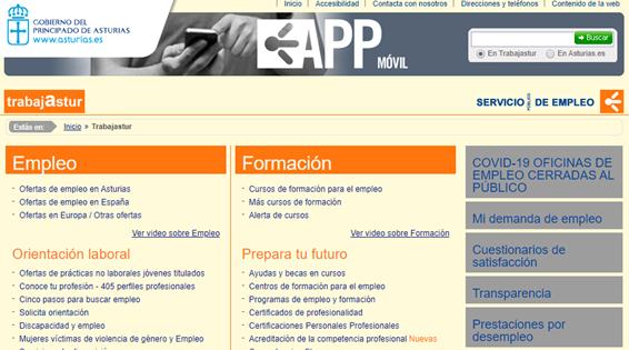 pagina principal portal trabajastur