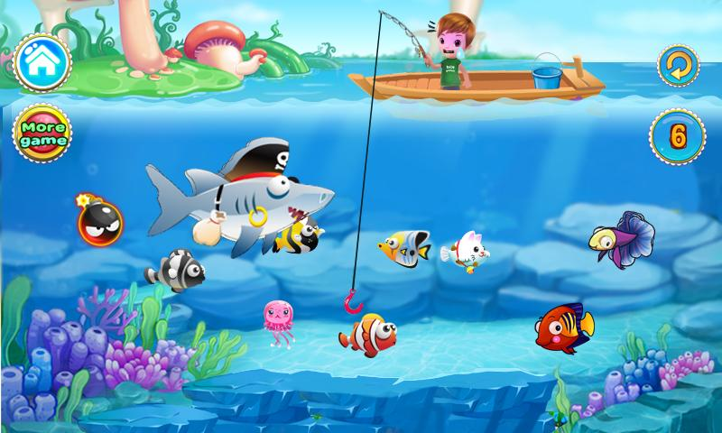 Funny boy fishing games android apps on google play for Fish arcade game