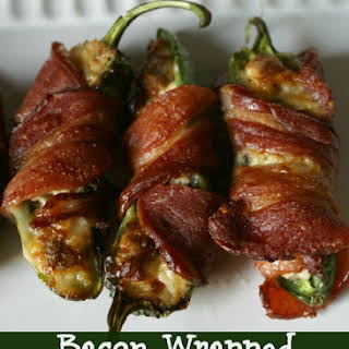 Bacon Wrapped Sausage Jalapeno Poppers.
