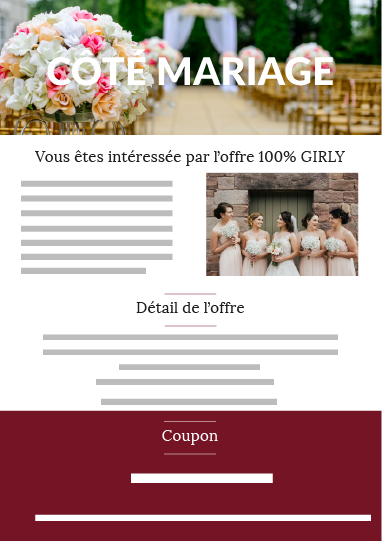 Offre girly mariage
