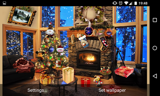 Christmas Fireplace LWP Full screenshot 15
