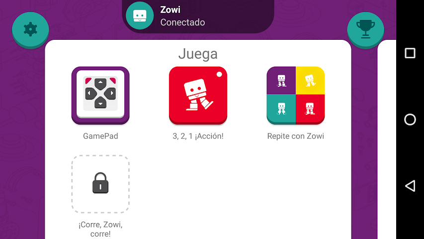 android Zowi App Screenshot 0