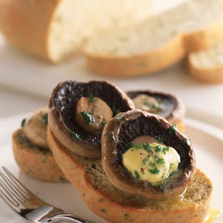 Herb Bread with Pan Fried Mushrooms and Garlic Butter