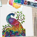 Peacock coloring - Bird Coloring icon
