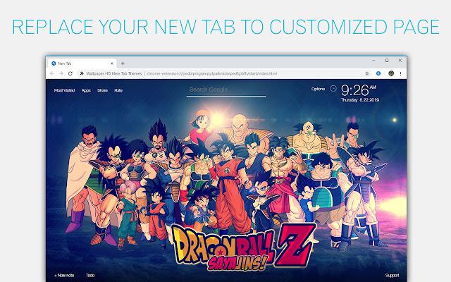 Dragon Ball Z Dbz Wallpapers Custom New Tab