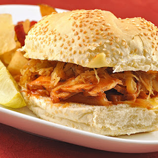 Roast Pork Sandwiches with Warm Apple-Onion Slaw