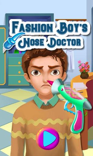 ファッション少年の鼻の医師
