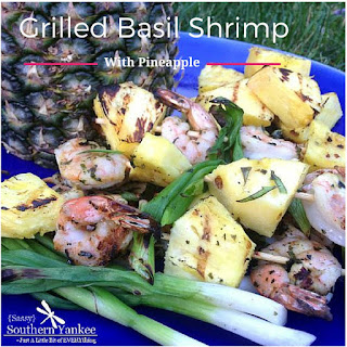 Grilled Basil Shrimp with Pineapple